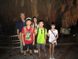 玉泉洞にて.JPG