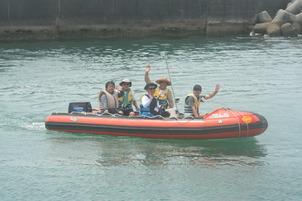 救助用ボート体験試乗①.JPG